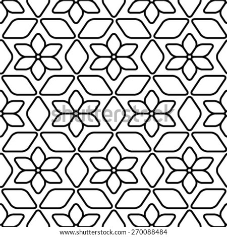 Seamless pattern, geometric stylish background. Vector repeating texture - stock vector