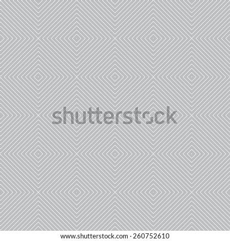Seamless pattern. Geometric texture of tiles and lines. Repeated diamonds of various sizes. Web. Backdrop. Outline. Monochrome. Vector illustration - stock vector