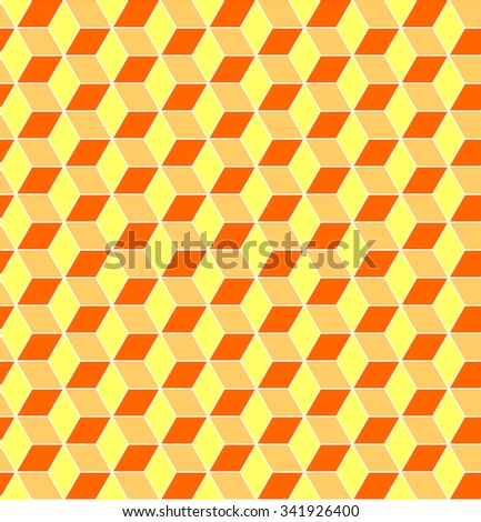 Seamless pattern. Geometric texture with optical illusion effect. Vector art. - stock vector