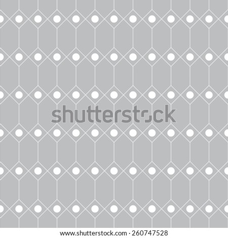 Seamless pattern. Geometric texture with repeating diamonds and dots. Web. Backdrop. Monochrome. Vector illustration - stock vector