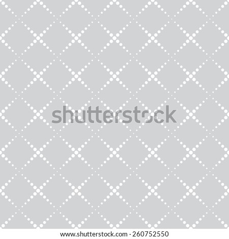 Seamless pattern. Geometric texture with repeating rhombus. Dotted line. Web. Backdrop. Monochrome. Vector illustration - stock vector