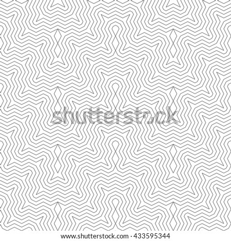Seamless pattern. Geometrical modern stylish texture. Regularly repeating classical linear zigzags with rhombuses. Vector element of graphical design - stock vector