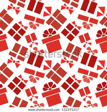 seamless pattern gift box with ribbon and bow
