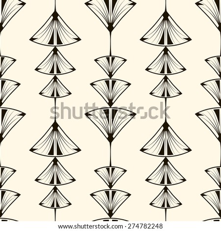 Seamless pattern, graphic ornament, modern stylish background. Vector repeating texture with stylized geometric elements - stock vector