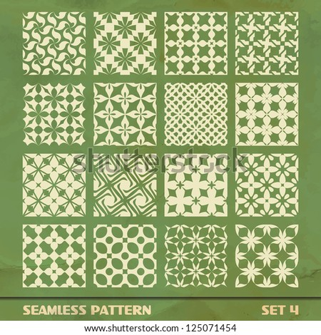 Seamless pattern. Great collection.  Set 4. - stock vector