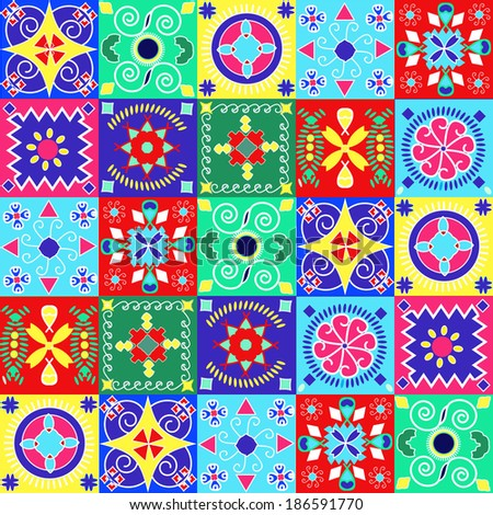 Seamless pattern  holiday cheerful bright design - Illustration - stock vector