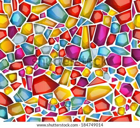 seamless pattern imitating precious stones inlay. Vector - stock vector
