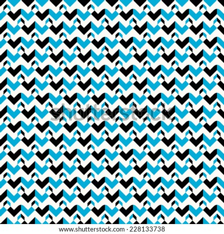 Seamless pattern in abstract style. Black, warm white and shade of bluish cyan colors - stock vector