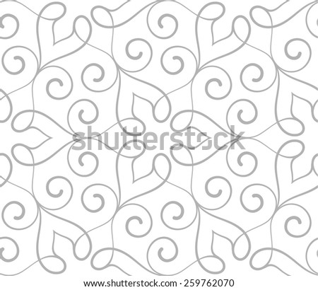Seamless pattern in Arabic style. Floral vector illustration. - stock vector