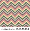 Seamless pattern in aztec style - stock photo