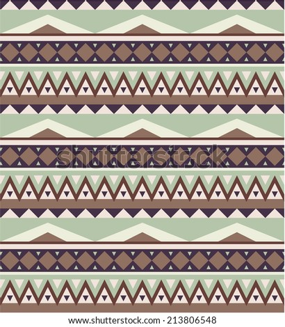 Seamless pattern in aztec style 1