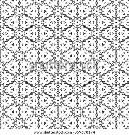 Seamless pattern in hexagon style