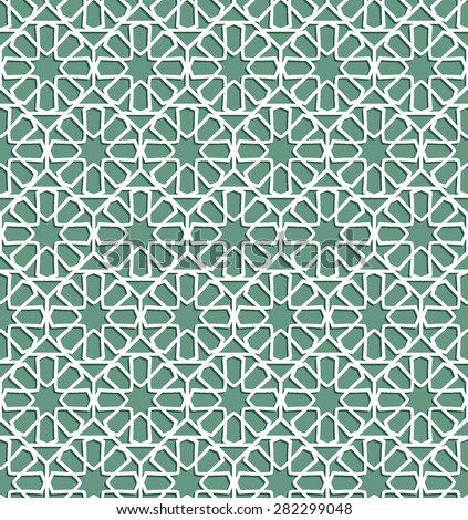 Seamless pattern in Islamic Ornamental pattern. Traditional Arabic seamless ornament. Elegant background for cards,  - stock vector