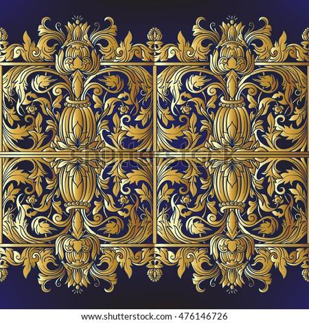 vector seamless renaissance wallpaper - photo #32