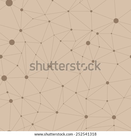 Seamless pattern in the form of web with circular nodes at intersections - stock vector