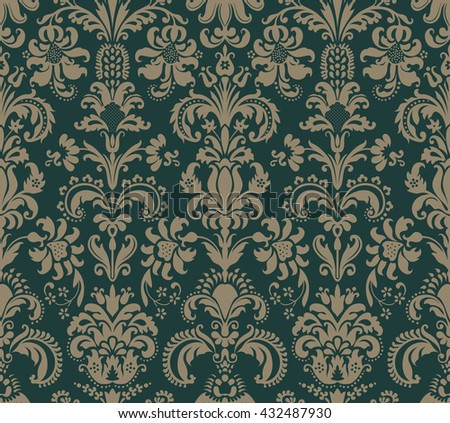 Seamless pattern in the style of Baroque.  - stock vector