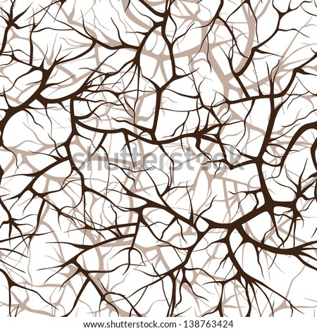 seamless pattern, interlacing of branches - stock vector