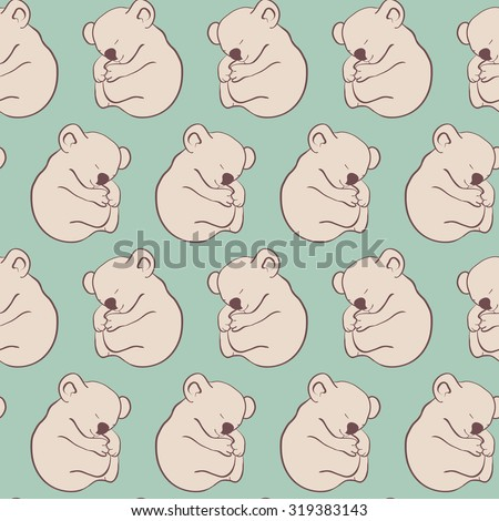 seamless pattern, koala