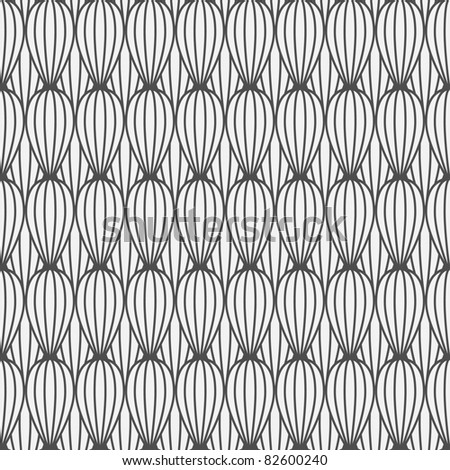 Seamless pattern. Lines and curves - stock vector