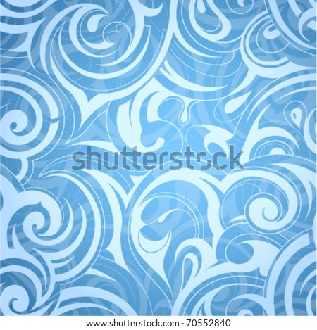 Seamless pattern. Liquid swirls - stock vector
