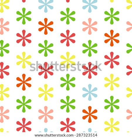Seamless pattern made from asterisks - stock vector