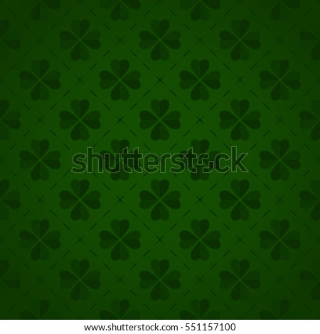 Seamless pattern made from cloverleaf