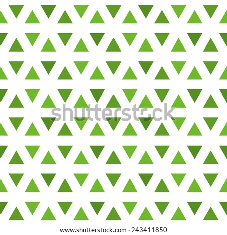 seamless pattern made from green triangles - stock vector