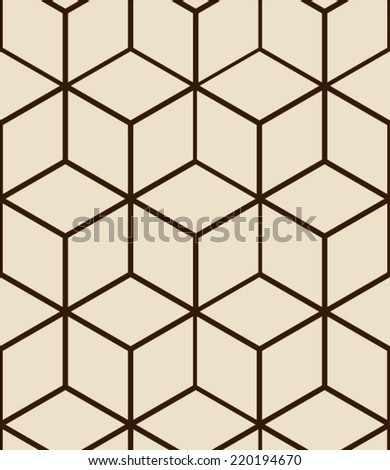Seamless pattern made from hexagons - stock vector