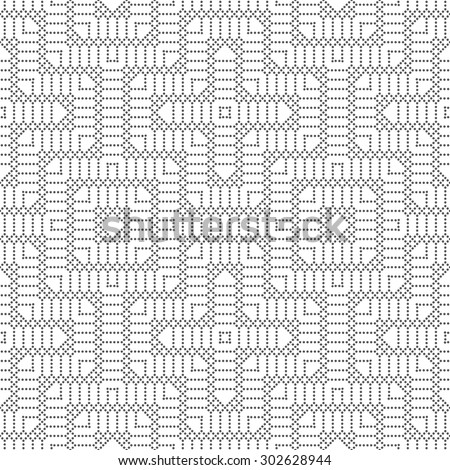 Seamless pattern. Modern abstract small dotted textured background. Texture with regularly repeating geometrical elements, shapes, dots, rhombuses, squares. Vector element of graphic design - stock vector