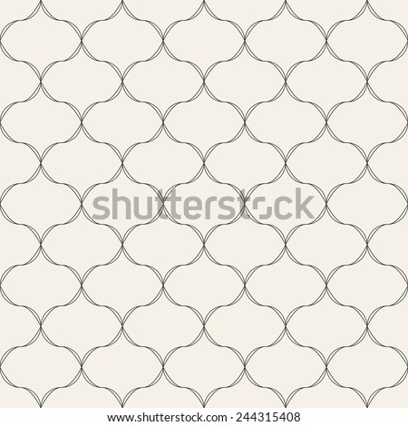 Seamless pattern. Modern monochrome symmetrical ornament. Geometric stylish background. Vector repeating texture - stock vector