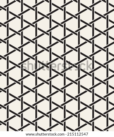 Seamless pattern. Modern stylish texture. Repeating abstract background with intertwined lines. Stylish monochrome grid