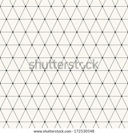 Seamless pattern. Modern stylish texture. Repeating abstract background with smooth triangles. Stylish black grid - stock vector