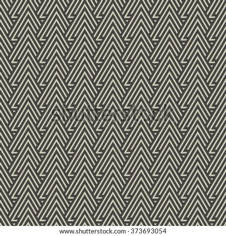 Seamless pattern. Modern stylish texture with regularly repeating geometrical shapes, triangles. Vector element of graphical design - stock vector