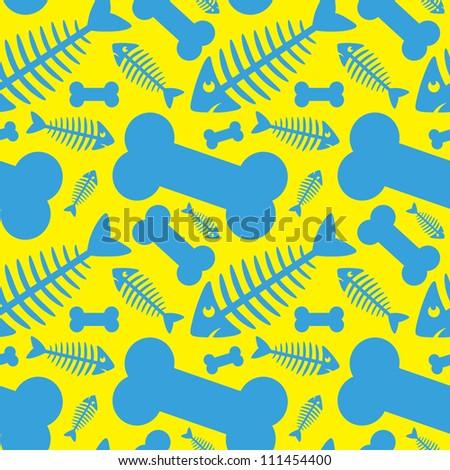 Seamless pattern of animal bones - vector illustration - stock vector