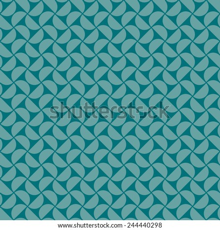 seamless pattern of blue half circles. - stock vector