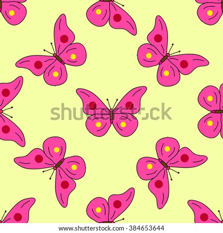 seamless pattern of butterflies can serve as a background