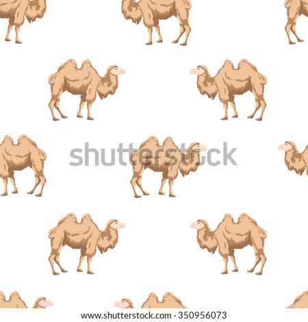 Seamless pattern of camels