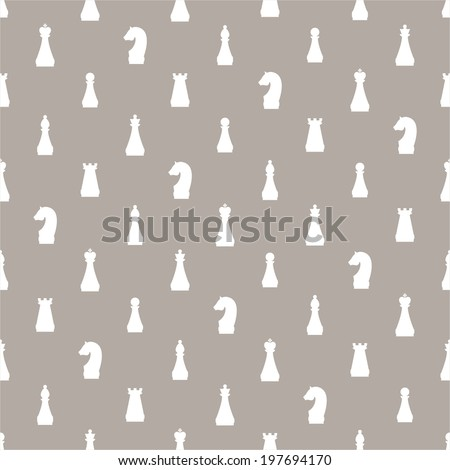 Seamless pattern of chess  - stock vector