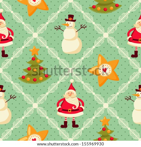 Seamless pattern of Christmas - stock vector