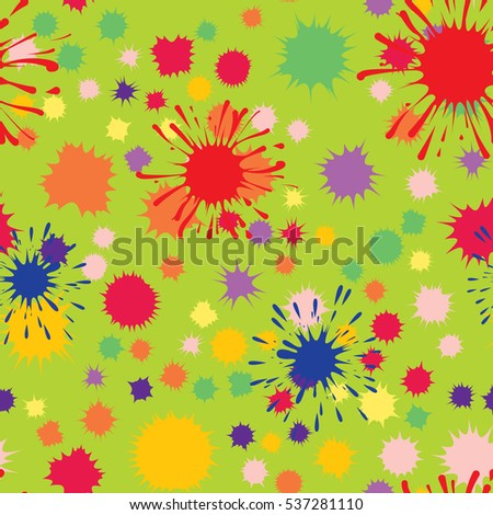 Seamless pattern of colored blots.