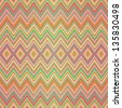 Seamless pattern of colored zigzag stripes (vector EPS 10) - stock vector