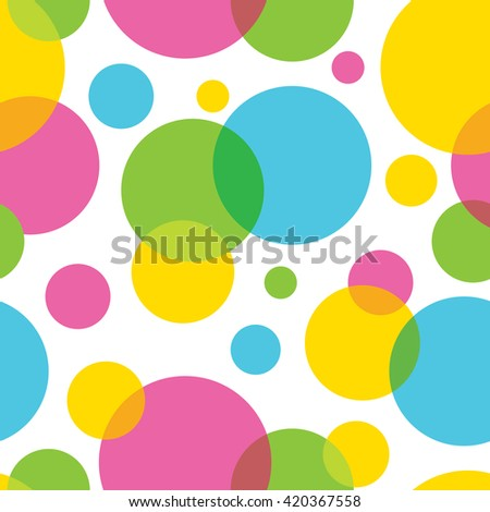 Seamless pattern of colorful circles - stock vector