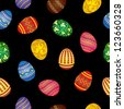 Seamless pattern of colorful Easter eggs - stock vector