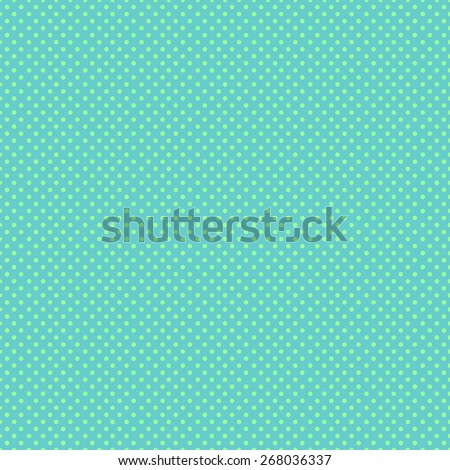 Seamless pattern of colorful polka dot in a small stylish in a beautiful aquamarine color scheme