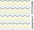 Seamless pattern of colorful waves. Used wavy lines in different colors. Arranged with a certain rhythm - stock photo