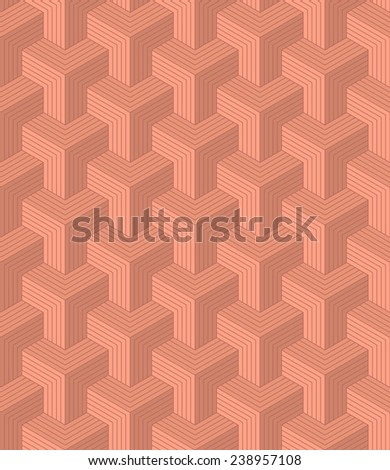 seamless pattern of copper colored blocks. each color in separate layer. - stock vector