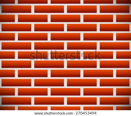 Seamless pattern of dark brickwork, brick wall. Construction, revetment, firewall pattern, texture with shading. Repeatable. Eps10 vector graphic. - stock vector
