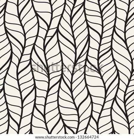 Seamless pattern of different braids. Endless stylish texture - stock vector