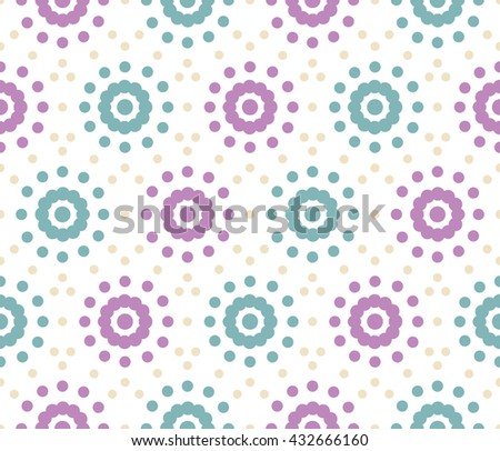 Seamless pattern of dots on a white background