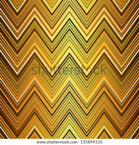 Seamless pattern of golden and black and green zigzag stripes (vector EPS 10) - stock vector
